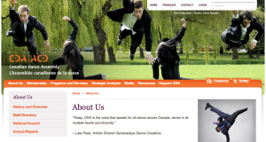 Canadian Dance Assembly website