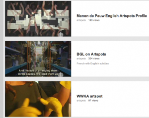 Quebec ArtSpots artists on YouTube